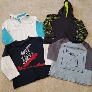 Lot of sz 3/4t long sleeved shorts, all in GUC